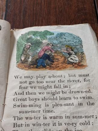 Inside one of the children's books